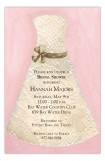 Lace Bride Pink Invitation