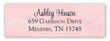 Lace Bride Pink Rectangular Sticker