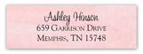 Lace Bride Pink Rectangular Sticker