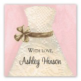 Lace Bride Pink Square Sticker