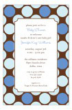 Large Blue Dots Invitation