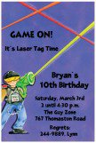 Game On Laser Tag Invitations for Kids Birthday