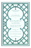 Lattice Teal Invitation
