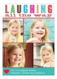 Laughing All The Way Collage Photo Card