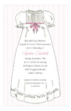 Laurel Christening Pink Invitation