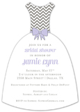 Lavender Modern Chevron Invitation
