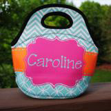 Caroline Print Lunch Tote with Name
