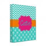 Caroline Print Personalized Binder