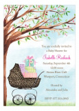 Leopard Print Carriage Invitation