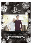 Chalkboard Let it Snow Photo Card