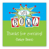 Lets Bowl Square Sticker
