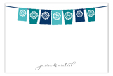 Lets Fiesta Blue Flat Note Card