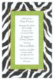 Lime and Black Zebra Print Invitation