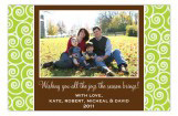 Lime and Brown Festive Photo Card
