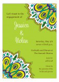 Lime and Turquoise Elaborate Pattern Engagement Party