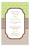 Lime Chocolate Khaki Graphic Duo Invitation