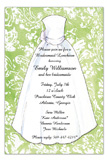 Lime Damask Bride Invitation