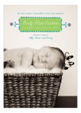 Lime Dotted Border Photo Card