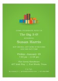 Lime Green Pretty Package Invitation