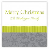 Lime Snowy Grosgrain Square Sticker