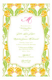 Lime Yellow Garden Invitation
