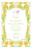 Lime Yellow Garden Invitation