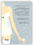 Gray Damask Lingerie Shower Invitations