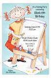 Little Artist Girl Invitation