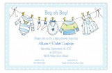 Little Boys Clothes Invitation