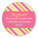Little Chick Girl Baby Shower Round Sticker