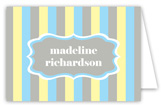 Little Cupcake Baby Boy Shower Folded Note Card
