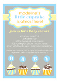 Little Cupcake Boy Baby Shower Invitations