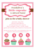 Little Cupcake Baby Girl Shower Invitation