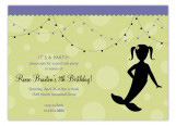 Little Miss Mermaid Invitation