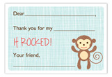Little Monkeys Climbing Flat Note Card