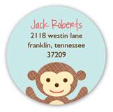 Little Monkeys Climbing Round Sticker