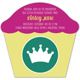 Little Princess Cupcake Invitation