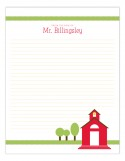 Little Red Schoolhouse Notepad