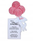 Lollipop Bouquet Invitation