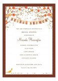 Love Birds Fall Invitation