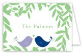 Love Birds Folded Note Card