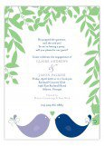 Blue & Lilac Love Birds Engagement Party Invitations