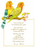 In the Air Love Birds Invitations