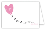Love is in the Air Folded Valentine Card