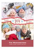 Love Joy Peace Red Photo Card