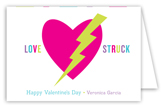 Love Struck Folded Valentine Card