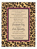 Lovely Leopard Invitation