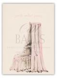 Bassinet Pink Folded Note Card