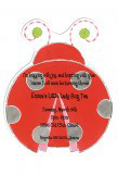 Lucky Lady Bug Die-cut Invitation