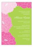 Lush Pink Floral Invitation
